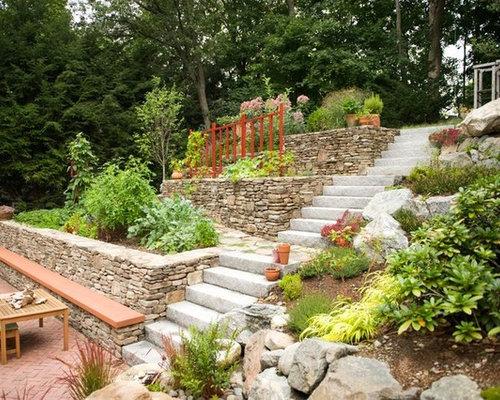 Jardin potager avec une pente une colline ou un talus for Amenagement talus jardin