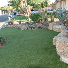Mediterranean Landscape by Green Planet Landscaping Pools & Spa