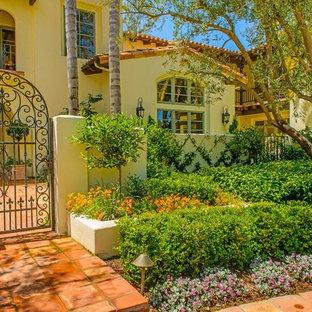 Mediterraner Vorgarten mit Auffahrt in San Diego