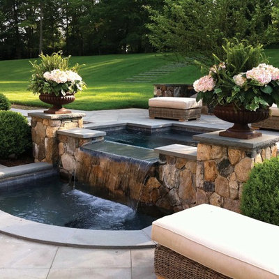 This is an example of a traditional water fountain landscape in New York.