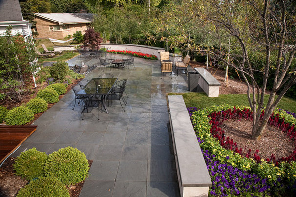 Contemporary Landscape by Ginkgo Leaf Studio