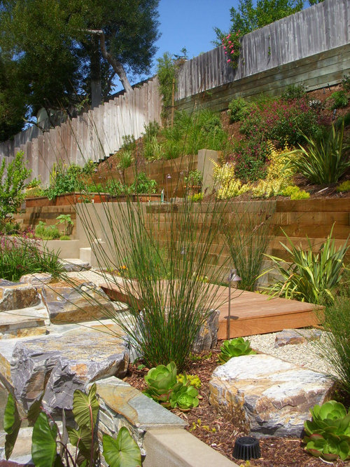 Design Ideas For A Contemporary Hillside Retaining Wall Landscape In San Diego
