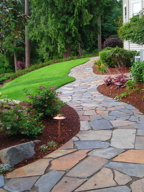 Flagstone Path Designs : Flagstone walkway houzz