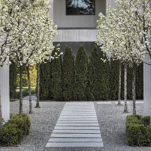 Design ideas for a huge contemporary partial sun side yard stone garden path in San Francisco for spring.