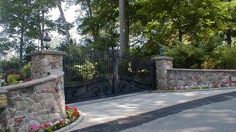 Estate Driveway Gate at Lakefront Lake Hopatcong