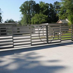 Large modern front yard partial sun driveway in Atlanta.