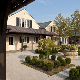Design ideas for a traditional gravel landscaping in Baltimore.