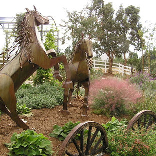 Inspiration for a mediterranean backyard landscaping in Los Angeles.