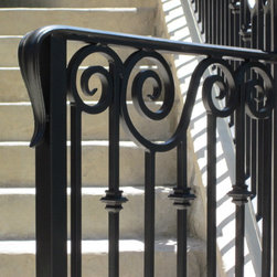 Exterior Scroll Railing -
