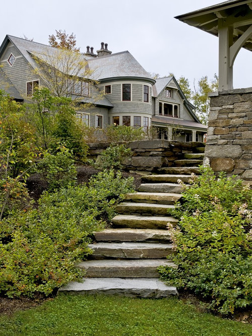 Stone steps houzz for Pictures of stone steps