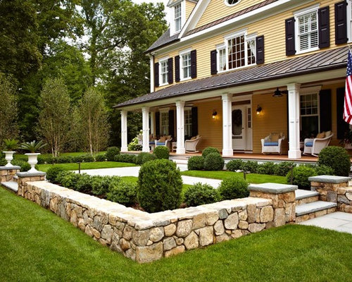 Stone front yard ideas pictures remodel and decor for Front yard renovation ideas