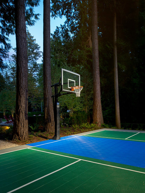 Outdoor Basketball Court Home Design Ideas Pictures