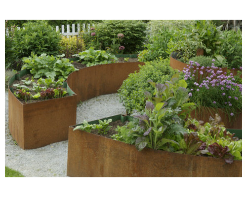 Circular Garden Bed Houzz