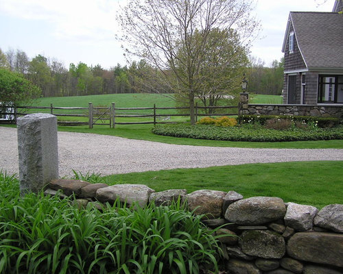 Horse Fence Design Horse fence houzz design ideas for a farmhouse front yard gravel landscaping in portland maine workwithnaturefo
