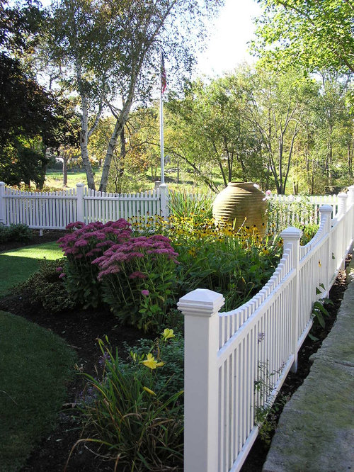 Front Yard Fence Ideas Part - 28: Design Ideas For A Traditional Partial Sun Front Yard Landscaping In  Manchester.