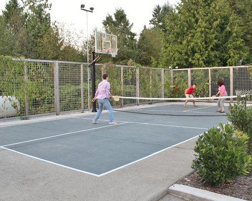 Backyard Sport Court Ideas basketball tennis court Saveemail