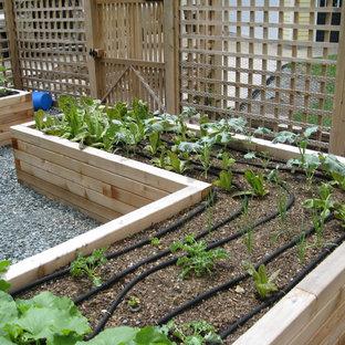 На фото: огород на участке в классическом стиле с