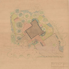 Midcentury Landscape Ferris House Spokane - Halprin Preliminary Plan 1955