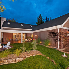 transitional landscape Finding a Vintage Vibe with New Construction in Kelowna, BC
