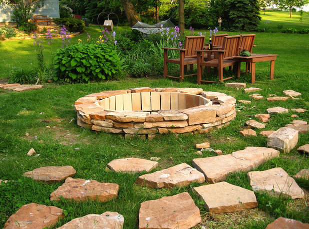 How to build a fire pit houzz for Feuerstelle garten mit pflanzkübel de