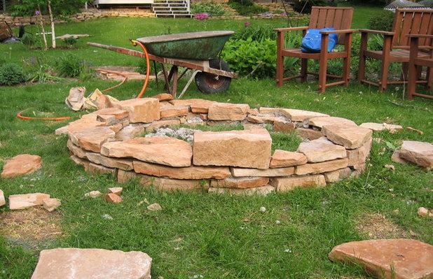 feuerstelle im garten bauen – anleitung, Garten seite