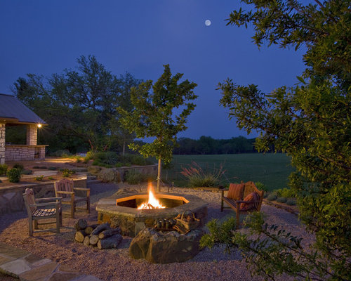Houzz Country Garden Fire Pit Design Ideas Remodel Pictures