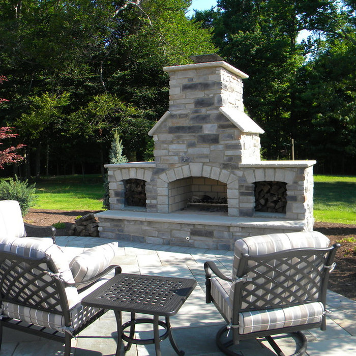 Fireplace and Bluestone Patio
