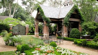Fireplace Pavillion with Wood Gate