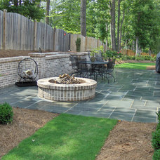 Eclectic Landscape by ARNOLD Masonry and Landscape