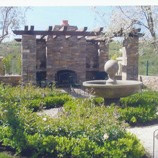 Mediterranean Landscape by Mclaughlin Landscape Construction