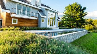 Fish Brook Overlook - Granite and Natural Stone Pool Terrace and Gunite Lap Pool