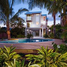 Beach Style Landscape by josh wynne construction