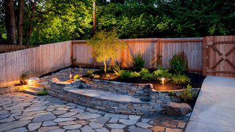 Flagstone Patio & Natural Stone Retaining Wall