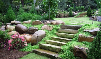 Flagstone Slab Steps, Boulders and Groundcover