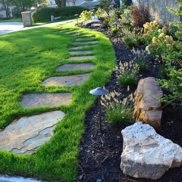 Flagstone Stepping Stones and Planting Bed