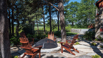 Flagstone with Fire Pit