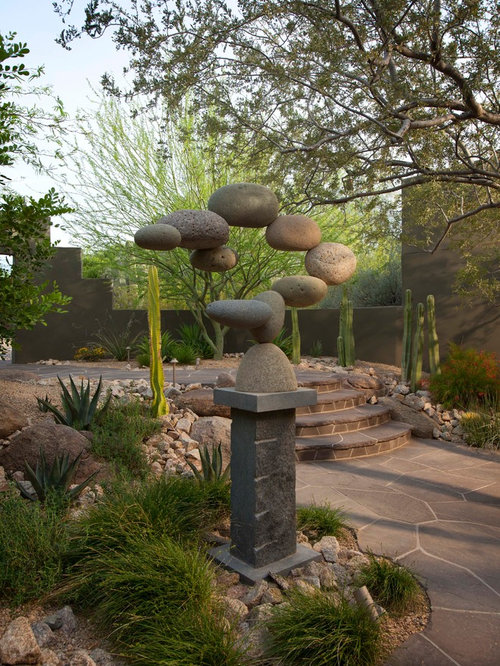 Stone Sculpture Garden Home Design Ideas, Pictures