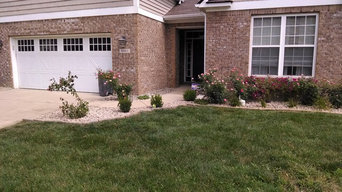 Flower bed with Stone and Edgers