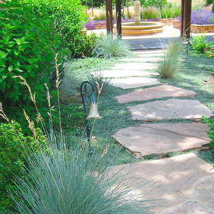 Design ideas for a huge mediterranean partial sun courtyard stone outdoor sport court in Sacramento for spring.