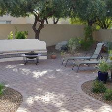 Mediterranean Landscape by Casa Serena Landscape Designs LLC