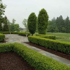 Traditional Landscape by Land Architects, Inc.