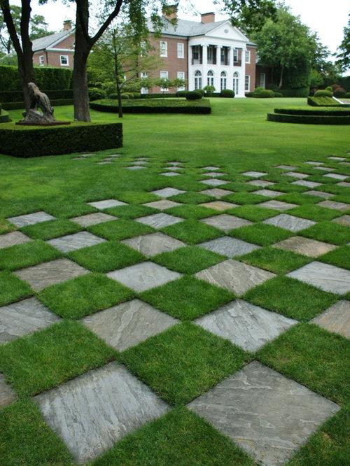 Grass Checkerboard Houzz