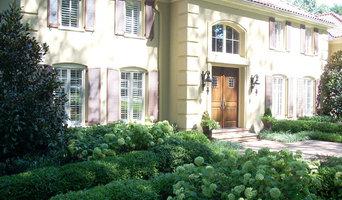 Formal garden for Mediterranean stlye home