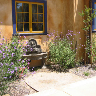 This is an example of a southwestern water fountain landscape in San Francisco.