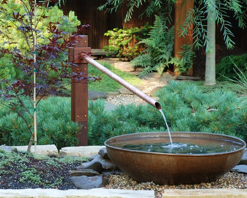 Japanese water feature houzz for Japanese water feature