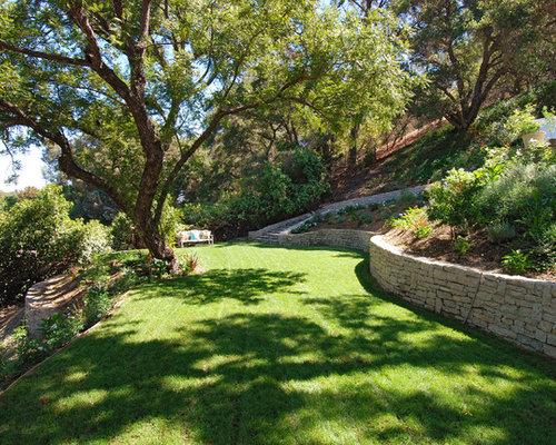 backyard slope houzz