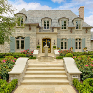 This is an example of a french country landscaping in Dallas.