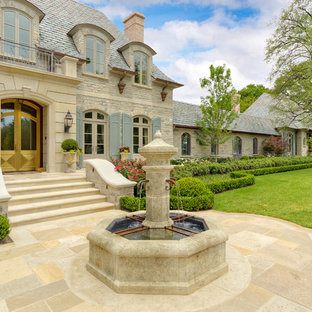 Design ideas for a french country landscaping in Dallas.