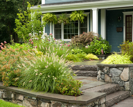 Sloped Front Yard Ideas Houzz - Sloped front yard landscaping ideas