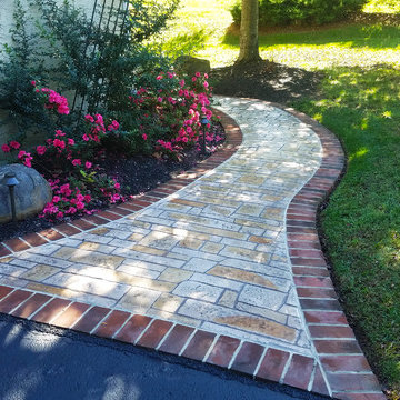 Front Stamped Concrete Walkway